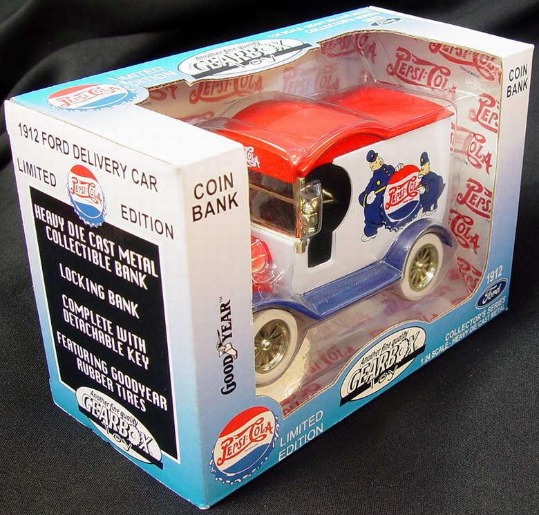 1912 Ford Model T Pepsi Cola Delivery Car 1:24 Scale Die Cast Lockable Coin Bank