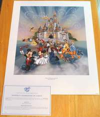 Happiest Celebration on Earth Disney World 2005 Limited Release Commemorative Lithograph with COA