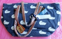 Dooney & Bourke DB Sport Duck Fabric Samantha Tote Bag with Leather Straps QVC #A91109 Brand New with Tags