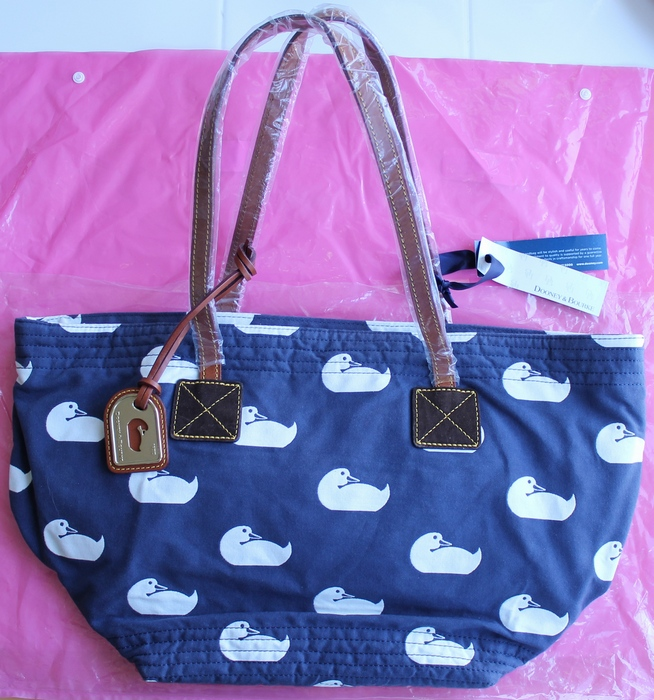Dooney & Bourke DB Sport Duck Fabric Samantha Tote Bag with Leather Straps