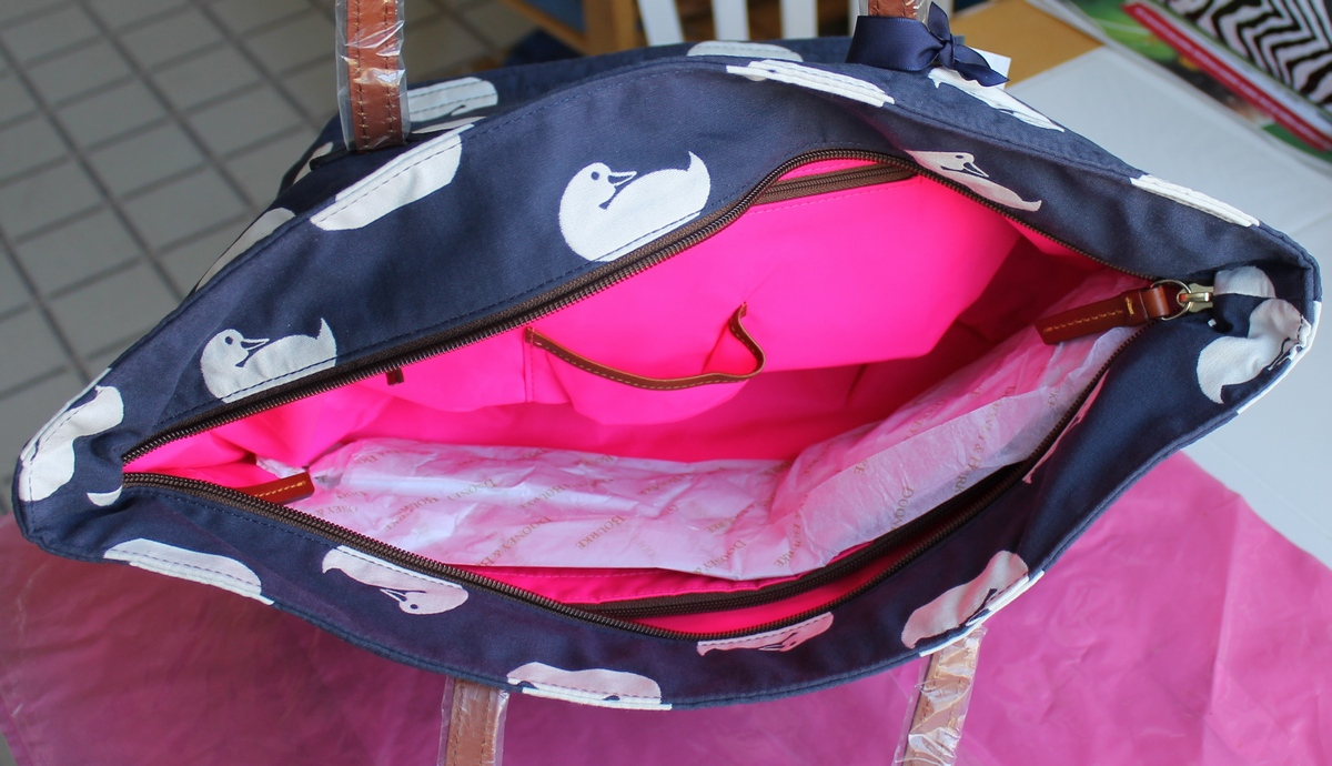 Samantha Brown Luggage Qvc: Dooney & Bourke DB Sport Duck Fabric Samantha Tote Bag