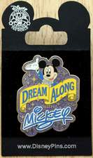 "Disney's Mickey Mouse ""Dream Along with Mickey"" 2007 WDW Trading Pin New on original sales plaque"