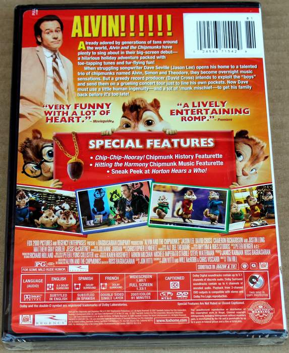 Alvin and the Chipmunks - Get Your Squeak On - Brand New Sealed DVD