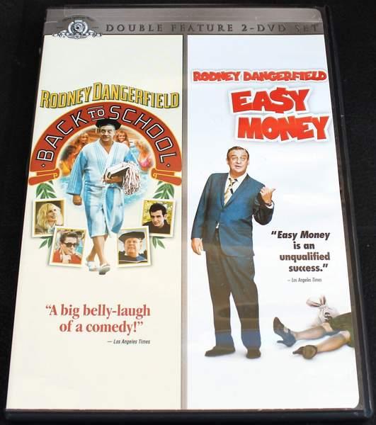 Back To School / Easy Money (Double Feature) Starring Rodney Dangerfield, Joe Pesci, Sally Kellerman, et al. - BRAND NEW SEALED