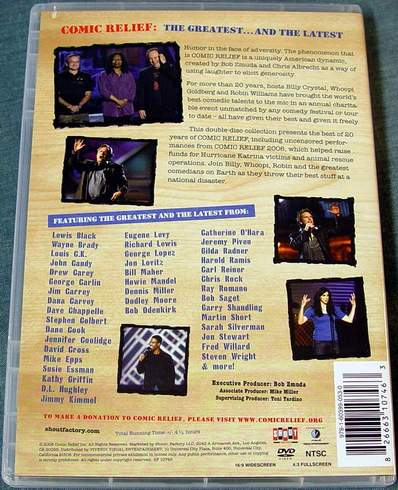 (Back View) Comic Relief - The Greatest and the Latest 2-Disc DVD Set