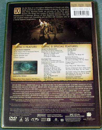 (Rear view) The Lord of the Rings - The Fellowship of the Ring (2-Disc Full Screen Edition DVDs)