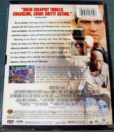 (Back View) U.S. Marshals - Tommy Lee Jones Special Edition DVD Set
