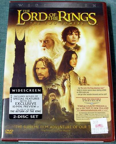 The Lord of the Rings The Two Towers 2-Disc Widescreen DVD Set Brand New Sealed in Shrink-Wrap