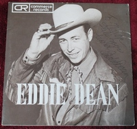 Eddie Dean 45-rpm Commerce Records M-559 Rare Signed Cover Sleeve Promo Copy