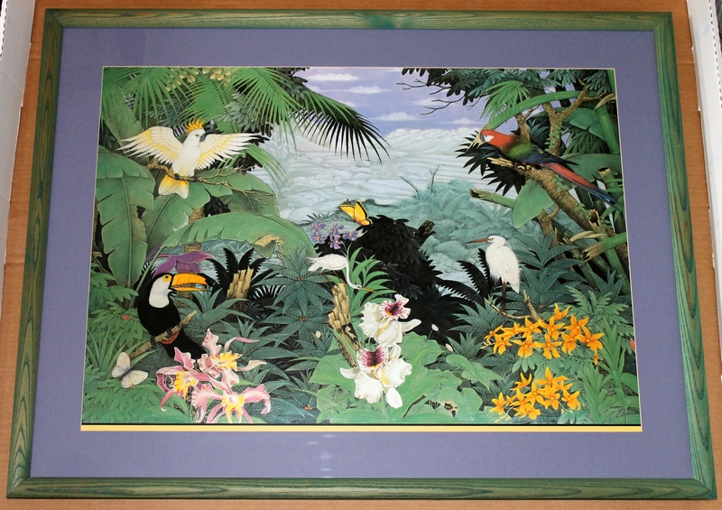 Eileen Seitz Jungle Print, Framed and Matted