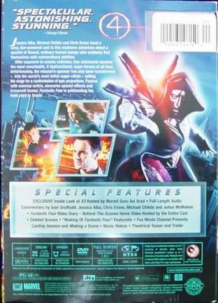 Fantastic Four Full Screen Edition DVD 2005