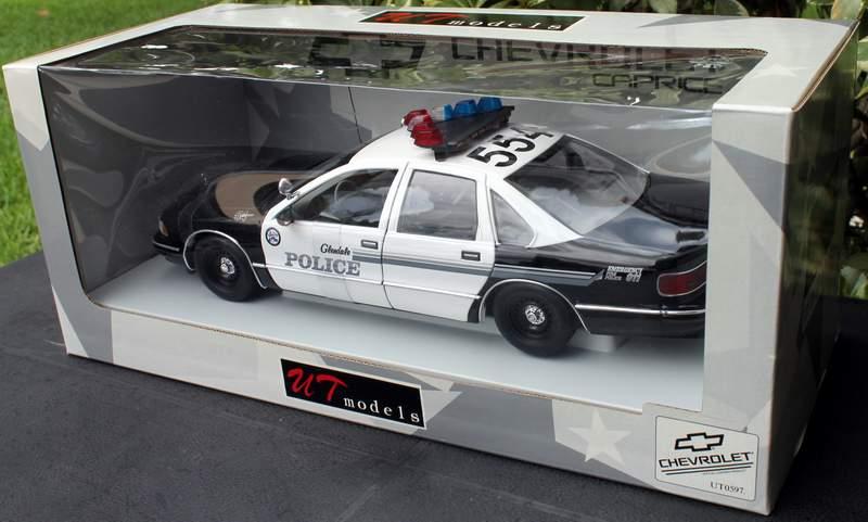 Glendale CA Police Chevy Caprice UT 1/18 Diecast Model # UT0597 NEW