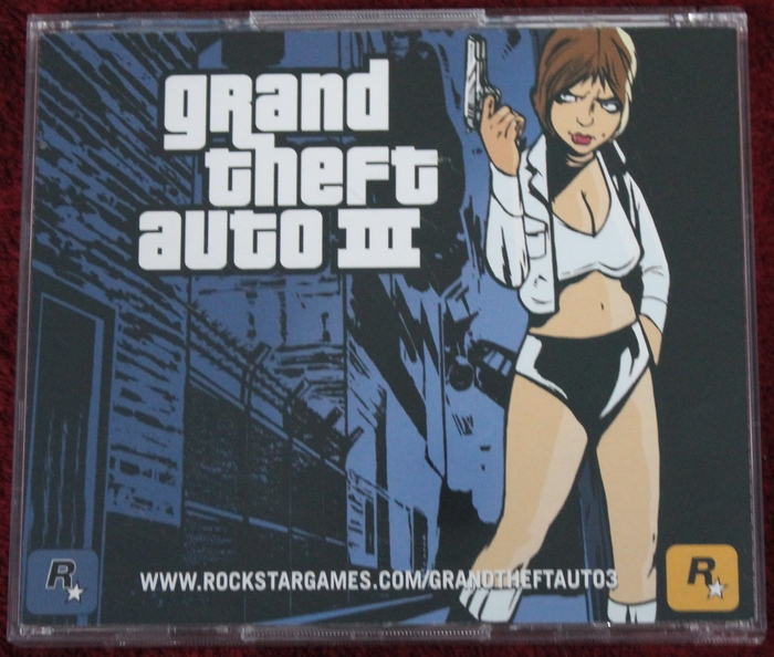 Grand Theft Auto III (PC, 2002) Artwork on the Back of the Jewel Case