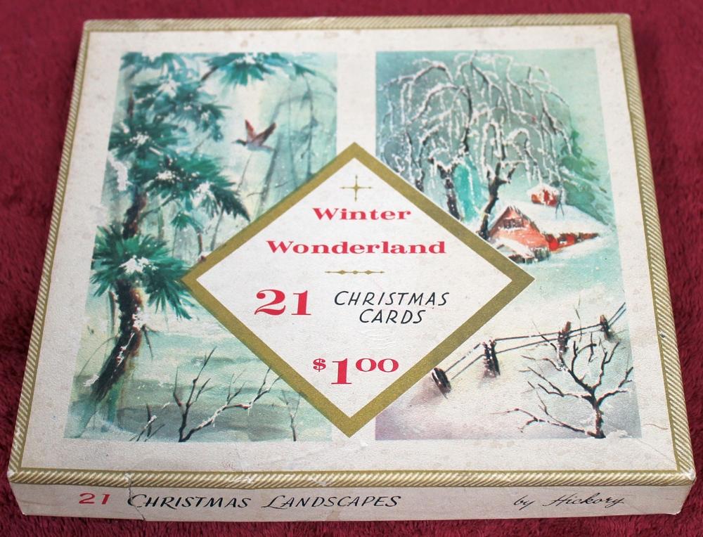 winter wonderland 2005 20 vintage christmas cards and envelopes