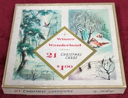 Winter Wonderland #2005 - 20 Vintage Christmas Cards and Envelopes in Original Box by Hickory - Made in the USA