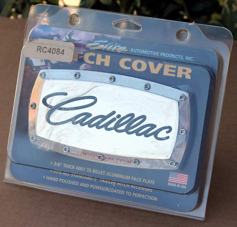 Cadillac Engraved Billet Aluminum Tow Hitch Cover From Elite Automotive Products 8130305