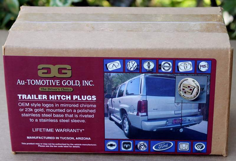 Cadillac Classic 23k Golden Logo Trailer Tow Hitch Cover Plug