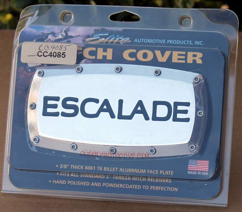 Cadillac ESCALADE Chrome Billet Tow Hitch Plug Cover From Elite Automotive Products