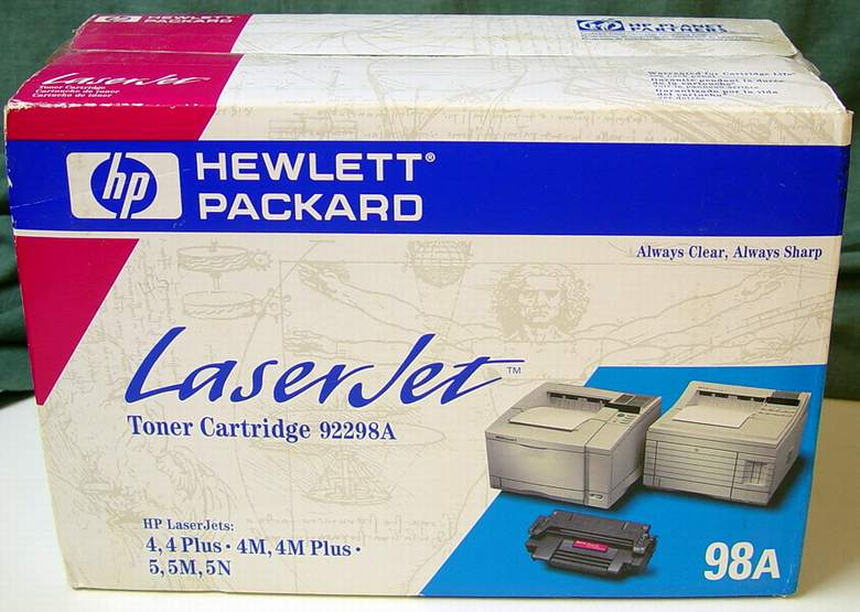 1 Genuine HP 98A 92298A OEM LaserJet Microfine Toner Cartridge (Black)
