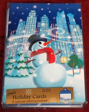 Image Arts Big City Snowman 18 Christmas Cards and Matching Envelopes 1995BXC5602