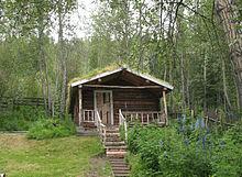 Cabin of Robert Service in Dawson City, Yukon