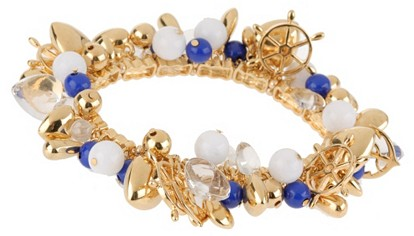 Joan Rivers Nautical Charms Stretch Bracelet (Blue)