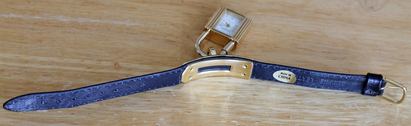 Joan Rivers Dangling Padlock Strap Watch