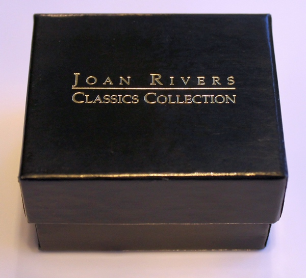 Joan Rivers Classics Collections Gift Box for the Two-tone, Twisted Cable, Simulated Blue Topaz Ring