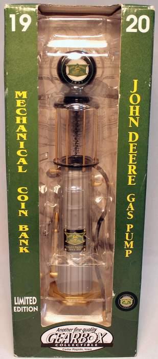 Limited Edition John Deere Gas Pump Mechanical 1920 Coin Bank