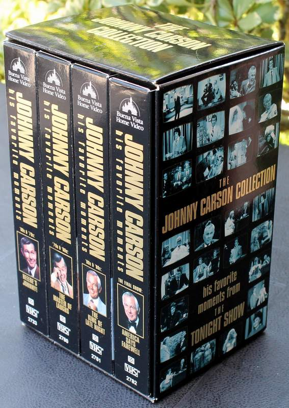 The Johnny Carson Collection his favorite moments from the Tonight Show Set of 4 VHS Tapes