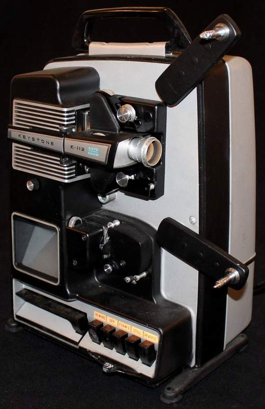 Keystone K-112Z 8mm Movie Projector with Remote, Manual and 4 Take-Up Reels.  All the bulbs are working!