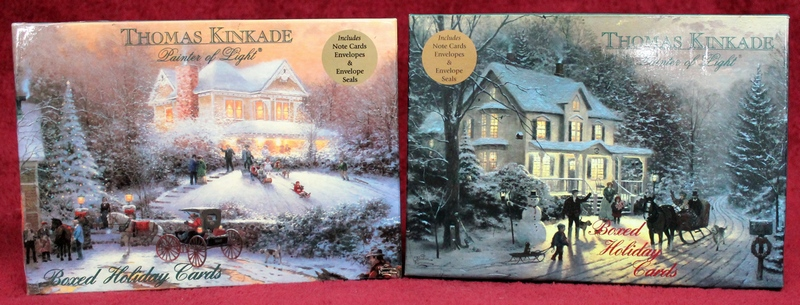 -Victorian Christmas II and Home for the Holidays- Thomas Kinkade -Painter of Light- Boxed Holiday Cards