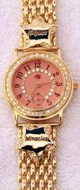 Kirks Folly Goldtone Expect Miracles Watch