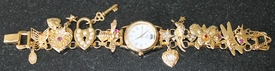 Kirks Folly Fantasy Charm Bracelet Goldtone Watch from QVC