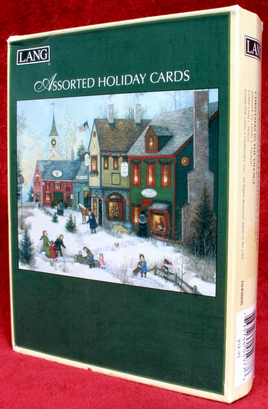 LANG 20 Assorted Holiday Cards Christmas in the Village 1049006
