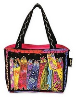 Laurel Burch LB4573 Santa Fe Felines Designer Medium Tote 14x4x10
