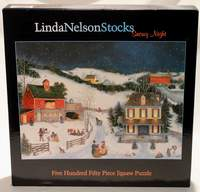 Linda Nelson Stocks - 550 Piece Puzzle - Snowy Night
