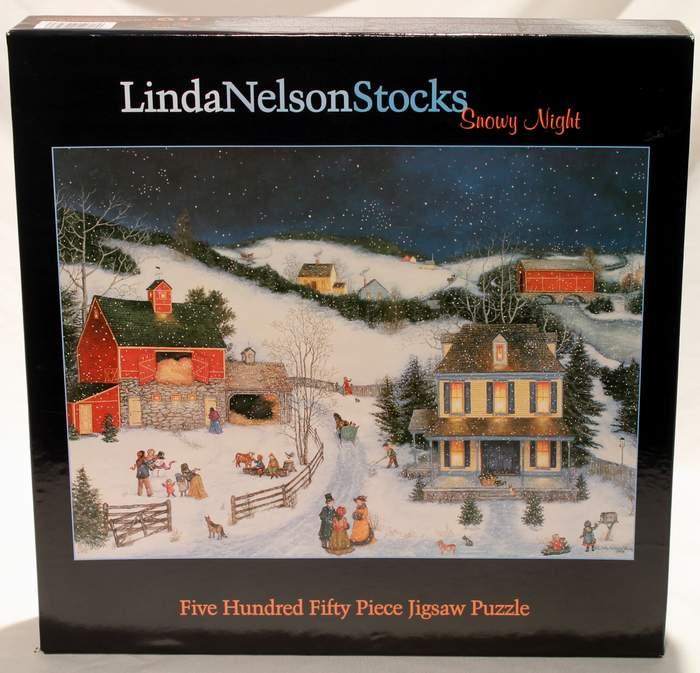 Linda Nelson Stocks - 550 Piece Puzzle - Snowy Night