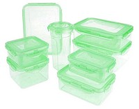Lock & Lock 8-piece Color Food Storage Container Set QVC Item K6124 Light Green