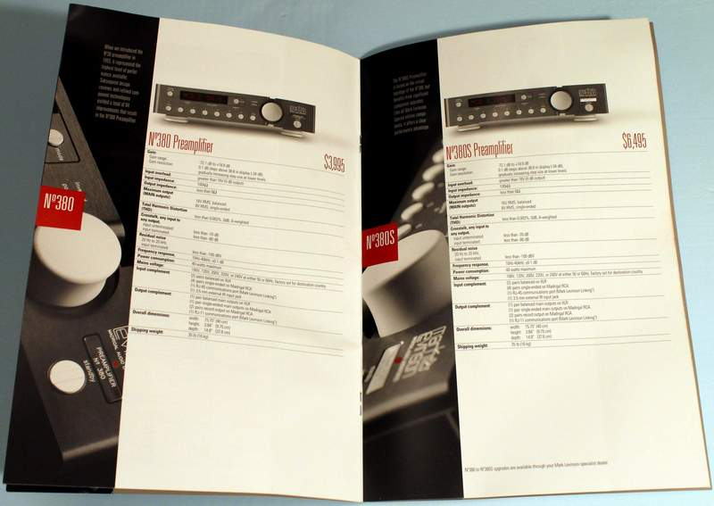 Inside the Mark Levinson 2001 Product Portfolio Catalog