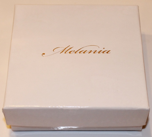 Melania Goldtone Vintage Design Faux Black Onyx Charm Bracelet in the Melania Gift Packaging
