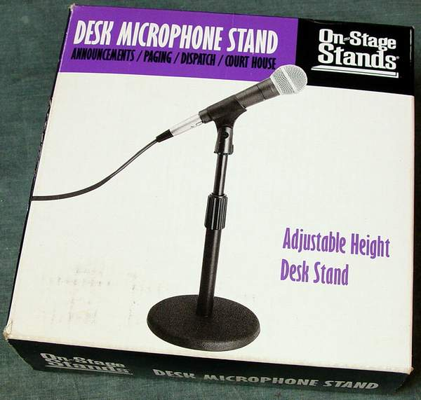 Box for On Stage DS7200B Adjustable Desk Microphone Stand (Black)