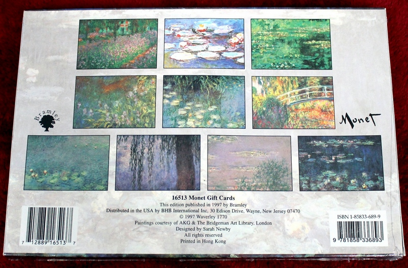 Monet Masterworks Notecards - Gift cards - Brand New Sealed in shrink-wrap