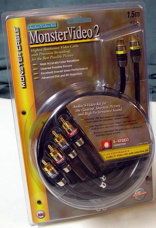 Monster Cable SV2AV25 Monster Video 2 S-video/ Interlink 250 A/v Connection KIT 1.5 Meter (4.9 Feet)