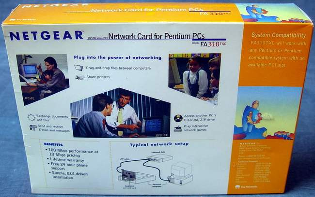 NETGEAR FA310TX Network Card for Pentium PCs