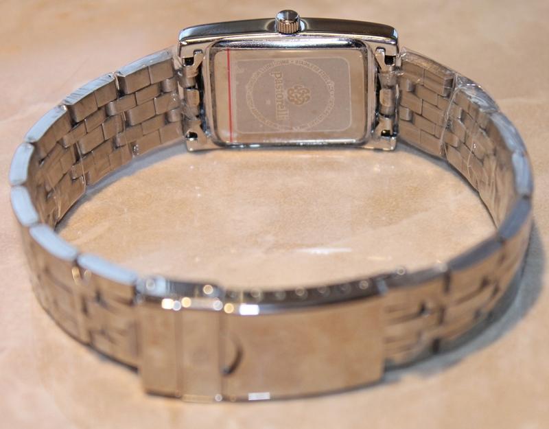 Pastorelli Silvertone Rectangle Case Bracelet Watch by Invicta