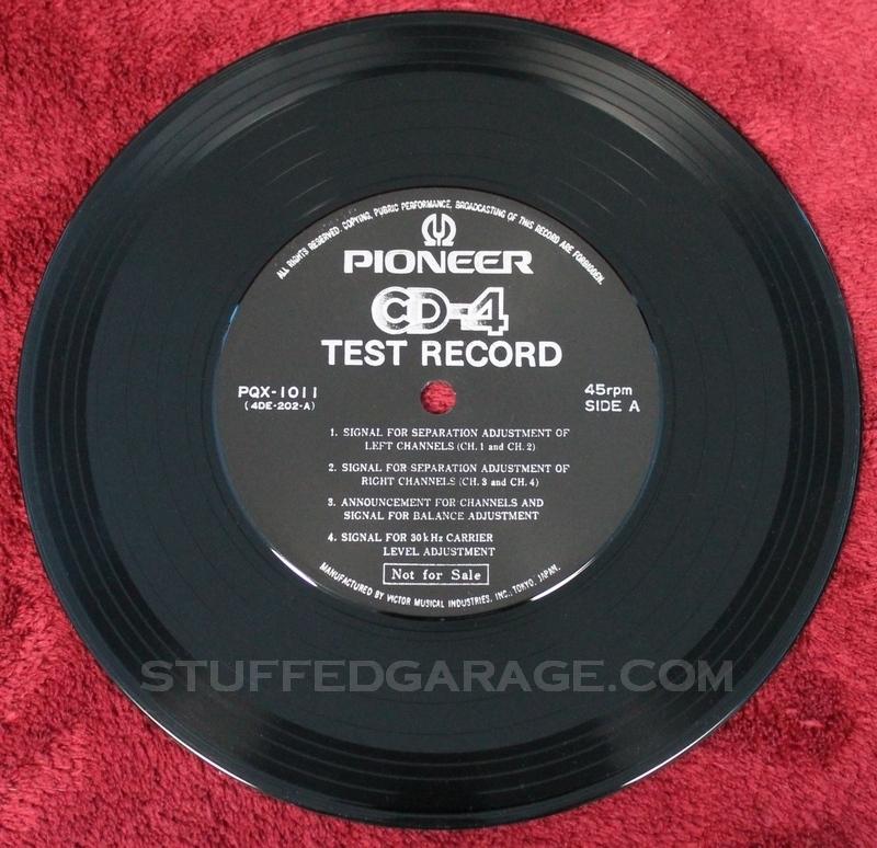 PIONEER CD-4 TEST RECORD Quadraphonic 7 inch Quad & Stereo 45-RPM Promo PQX-1011 Japan