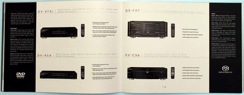 Inside the 2003 Pioneer Elite 42-page Electronics Catalog