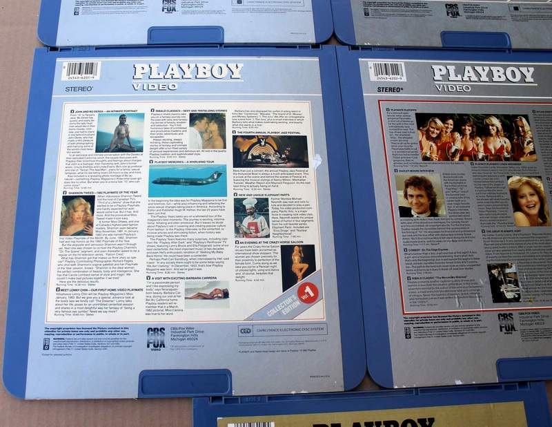 Playboy Video Collector's Edition 1 2 3 4 5  on CED RCA Selectavision