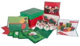 Set of 30 Pop Up Holiday Greeting Cards with StorageBox H17424